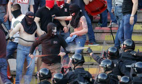 Trouble flares at Belgrade's Eternal Derby