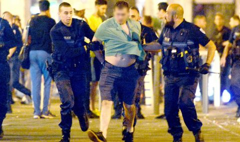 England fans clash with local hools in Marseille