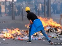 Clashes outside fan zone in Paris 10.07.2016
