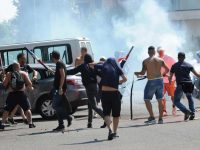 Brescia and Cagliari fans clash before pre-season friendly