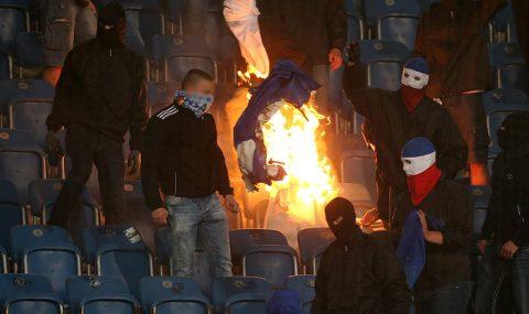 German Cup: Hansa Rostock v Hertha Berlin halted twice by fan trouble