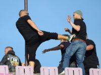 Rival fans clash at ASU Politehnica Timisoara v UTA Arad match