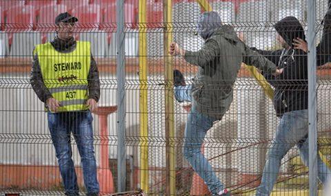 Fan trouble flares at Romanian league match