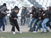 Mass brawl breaks out during Lokomotiv Plovdiv v CSKA Sofia match