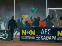 AEL v APOEL: Rival fans clash at Tsirio Stadium