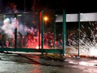 St Etienne hooligans clash with police after defeat to Monaco