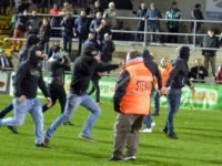 RAAL La Louvière fans attack rival fans after defeat