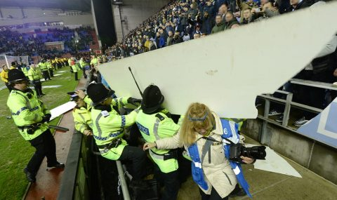 Trouble flares after Wigan beat Manchester City