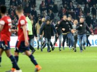 Lille fans attack their own players following home draw