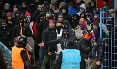 Piast Gliwice v Gornik Zabrze abandoned due to fan trouble