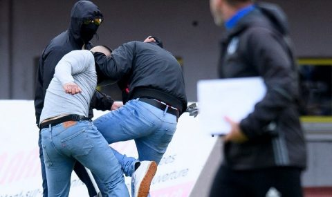 Lausanne-Sport hools attack rival Thun fans during match