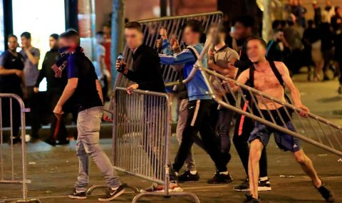 French fans clash with police after win over Belgium