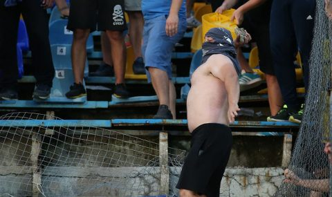 Levski's Europa League exit sparks angry scenes at Gerena stadium