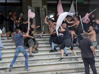 Palermo fans fight each other at Salernitana