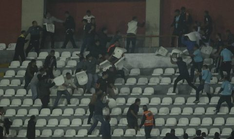 Trouble erupts at Sporting Cristal v Universitario match
