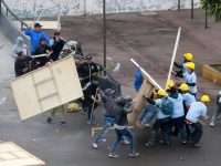 Alianza Lima fans clash with church members over land dispute