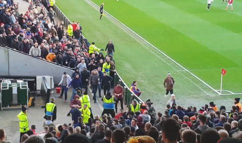 Scuffle breaks out at Bristol City v Swansea City match