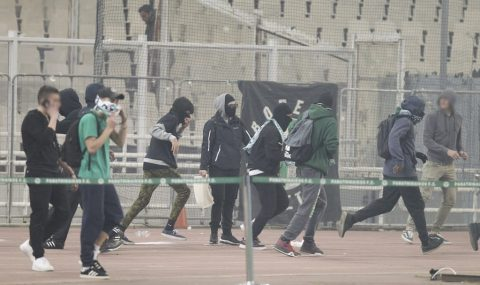 Panathinaikos vs Olympiacos match abandoned after tear gas fills stadium