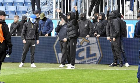 Grasshoppers fans force players hand over their shirts