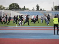 Rival fans fight at Wloclavia Wloclawek vs Legia Chelmza match
