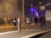 Strasbourg and Eintracht Frankfurt fans clash after Europa League match