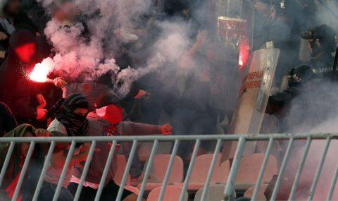 Belgrade derby: Crvena Zvezda fans clash with cops before kick-off