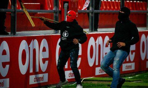 Olympiacos hools attack Bayern Munich fans at U19 match