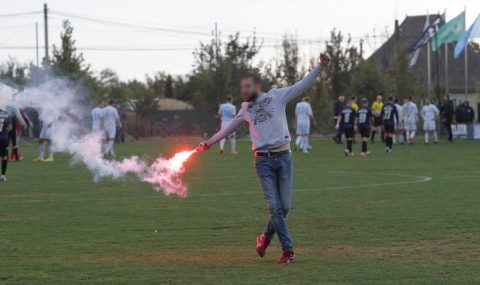 Ukrainian First League match abandoned after fans clash with stewards and police