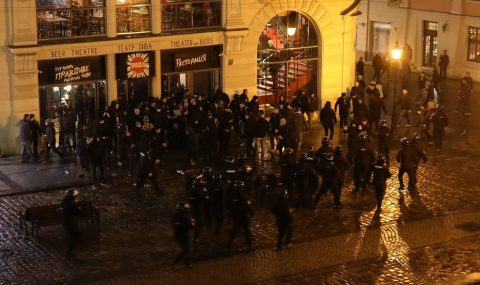 Mass fight breaks out in Lviv ahead of Europa League match