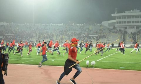Wydad fans storm pitch as they crash out of Arab Club Champions Cup