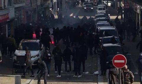 Sedan and Utrecht fans clash with Bastia supporters before match