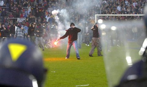 13 May 2006: Basel fans go on rampage after losing Swiss Super League title