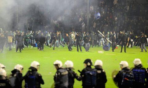 20 May 2008: St. Gallen fans riot after Swiss Super League relegation